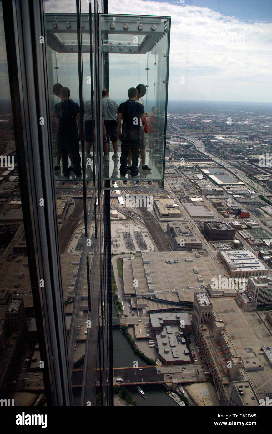 Skydeck 103rd Floor Of Willis Tower Formerly Sears Tower Stock