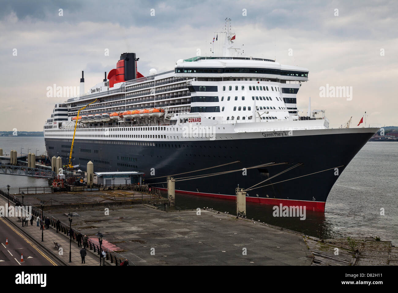 Liverpool, UK 17th May, 2013. The Big luxury Cruise Liner Terminal where the Passenger ship registered in Bermuda - Stock Image