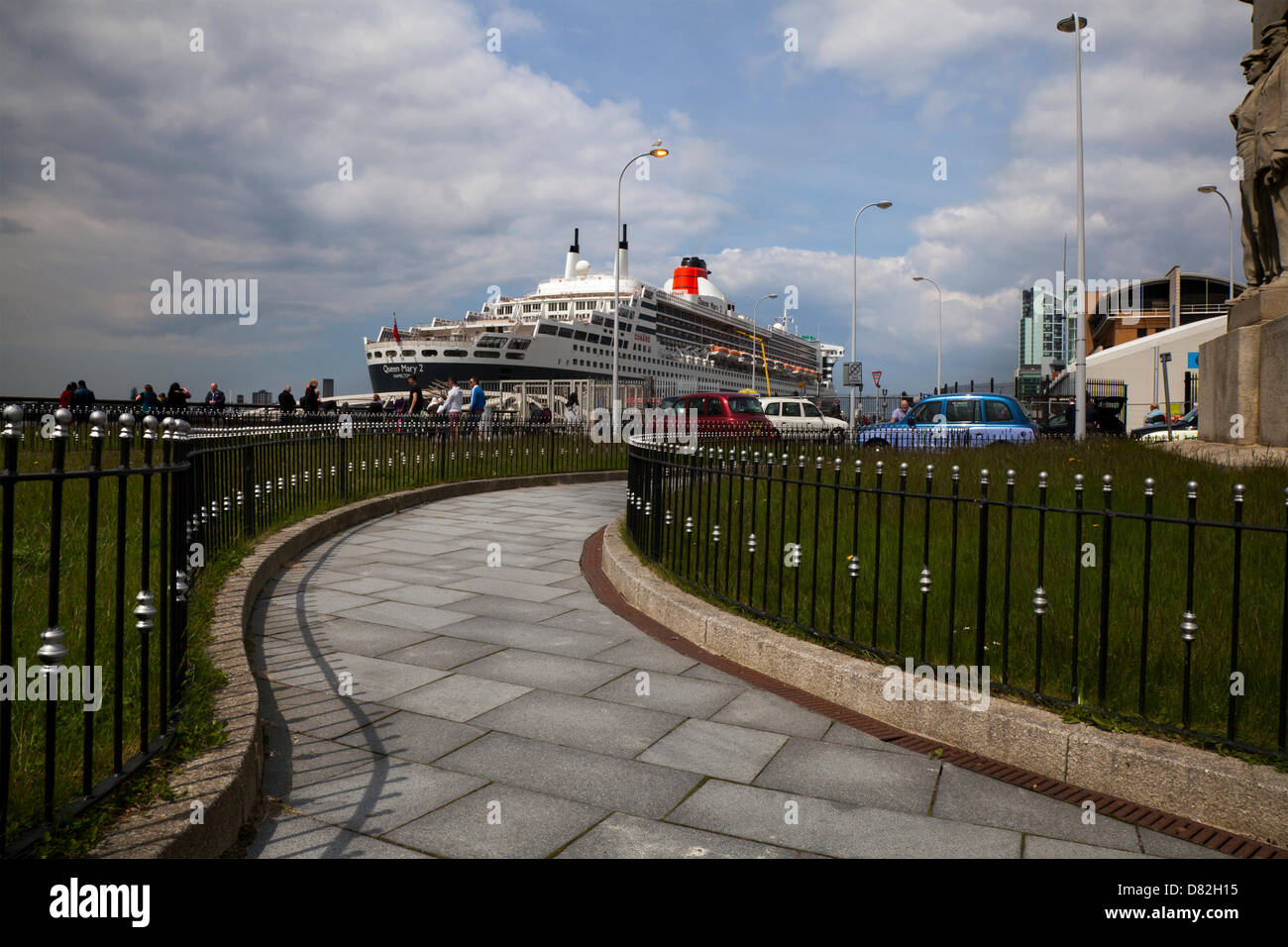 Liverpool, UK 17th May, 2013. The Cruise Liner Terminal where the luixury  Passenger ship registered in Bermuda - Stock Image