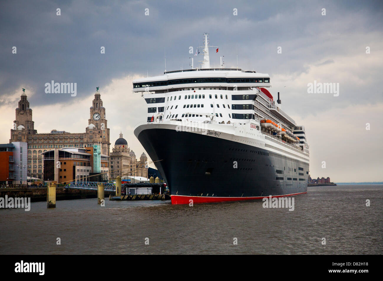 Liverpool, UK 17th May, 2013. The Big Cruise Liner Terminal where the Passenger ship registered in Bermuda Liner - Stock Image