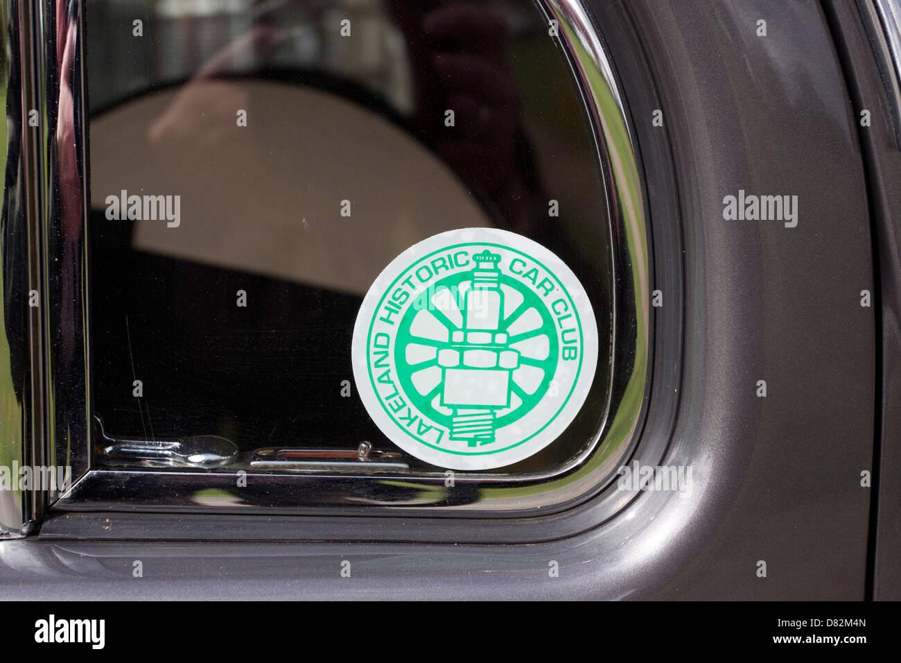 Car Window Sticker Stock Photos & Car Window Sticker Stock