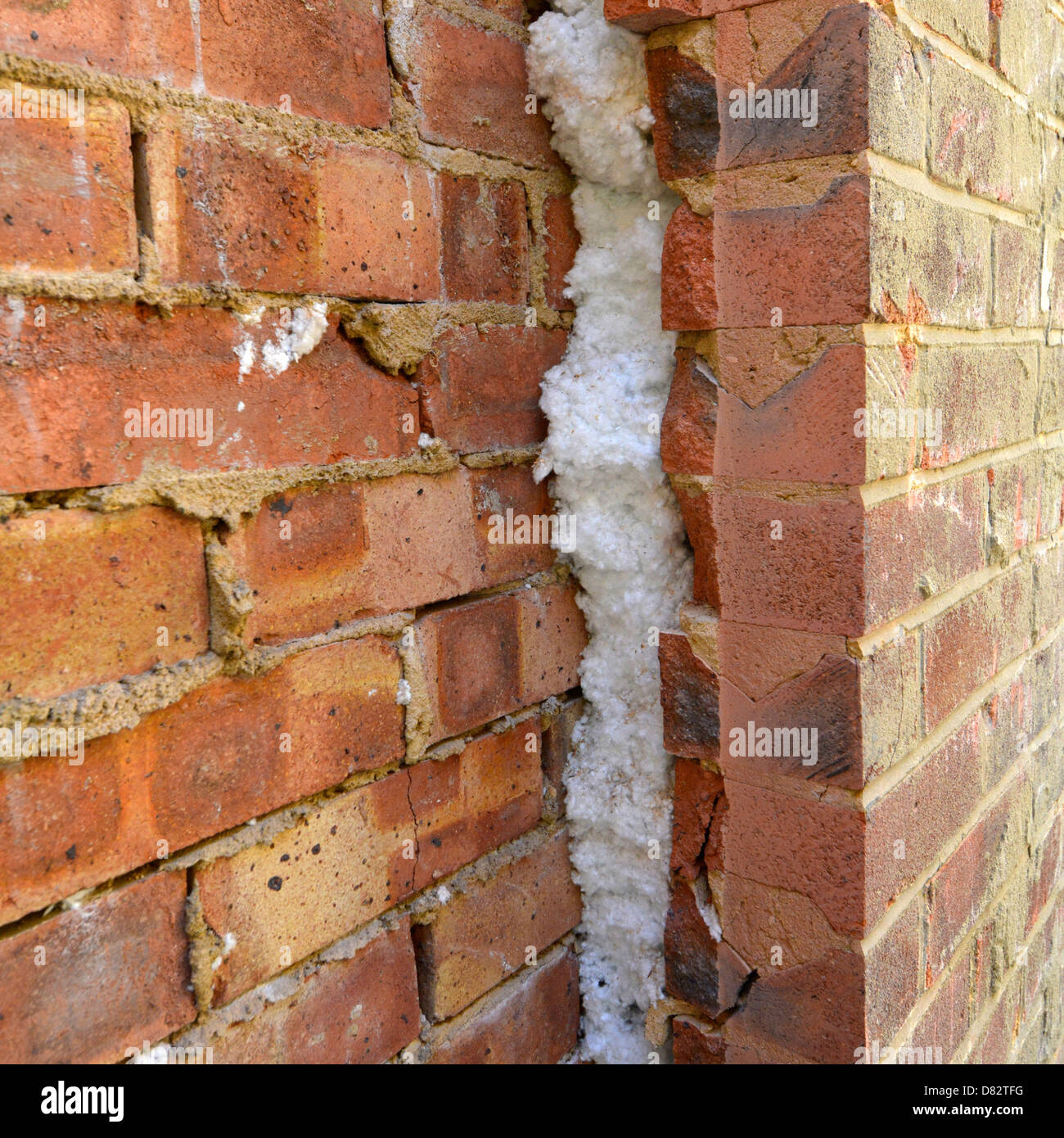 Pumped Cavity Wall Insulation Exposed Forming New