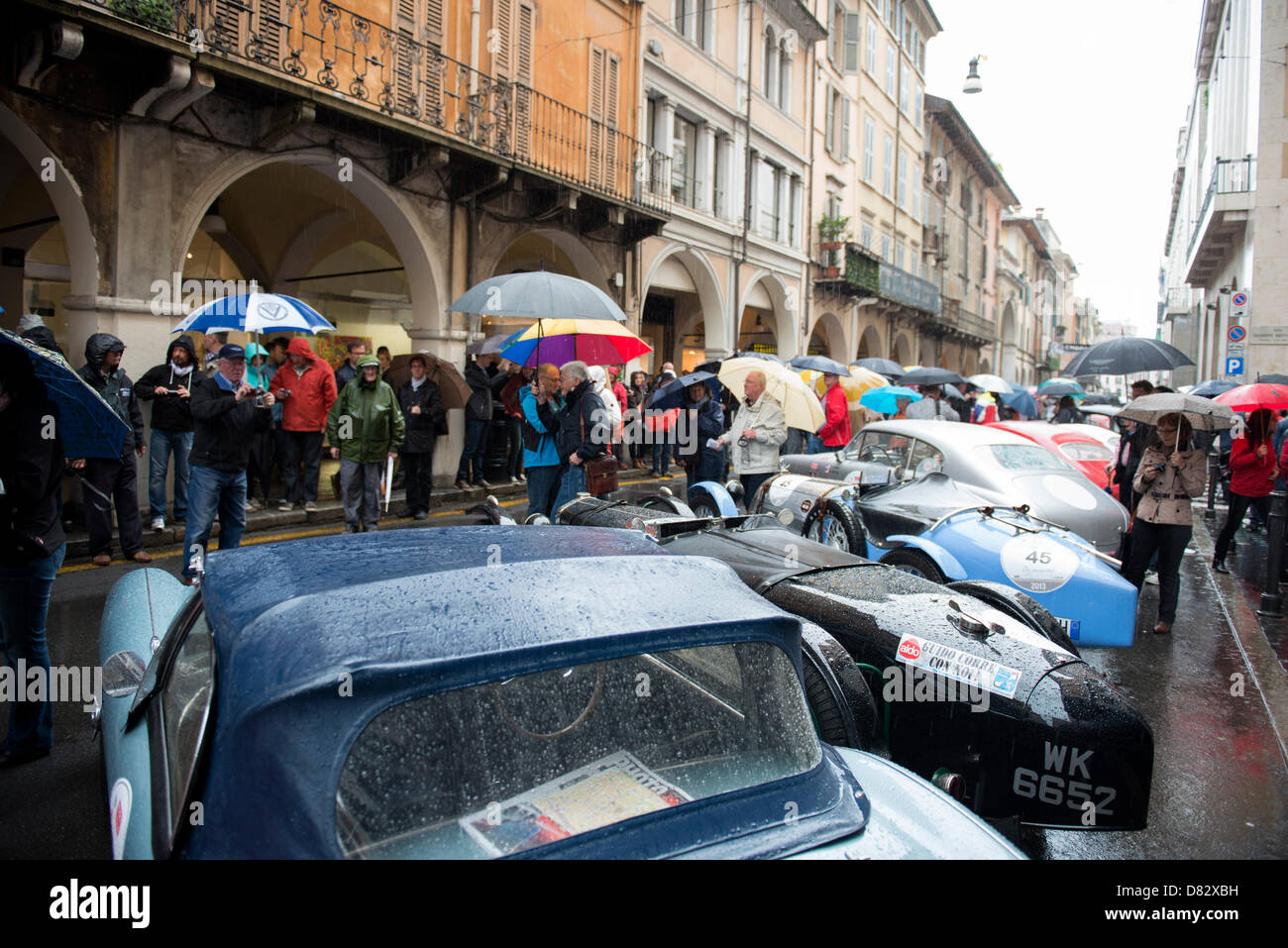 Brescia, Italy. 16th May 2013 - Mille Miglia 2013 - The first day at Brescia/Italy on 16th May 2013. Credit:  Johann - Stock Image