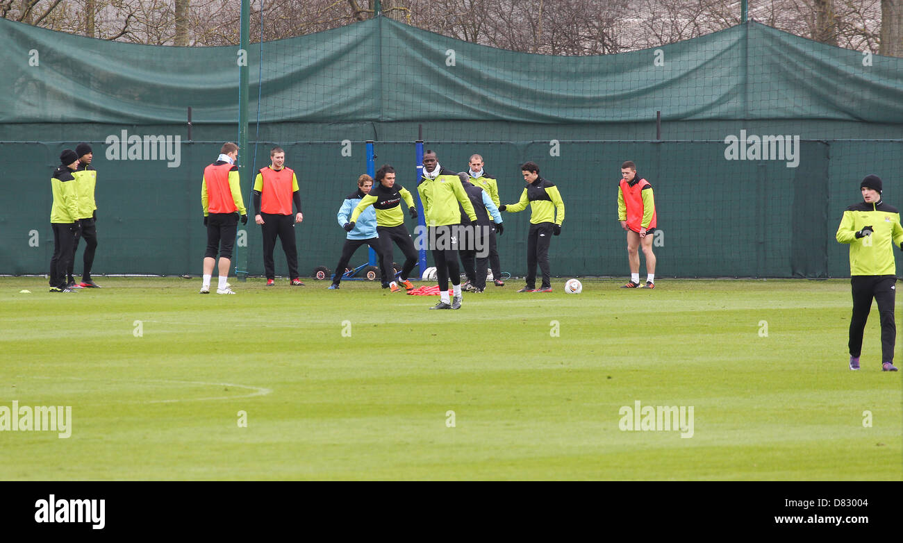 Mario Balotelli Manchester City F.C at their training ground in Manchester Manchester, England - 14.02.12 Stock Photo
