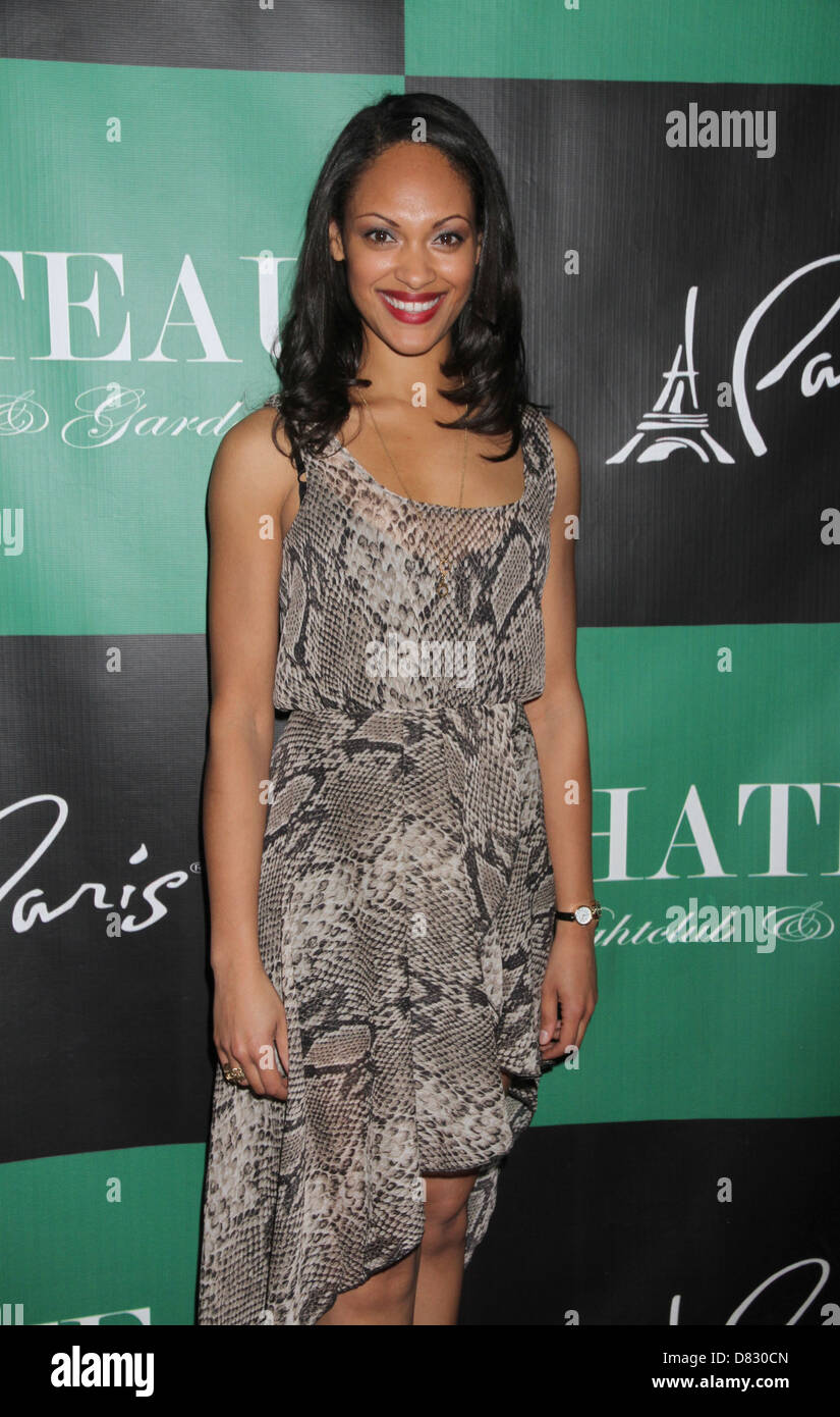 """Cynthia Addai-Robinson The Leading Ladies Of """"Spartacus: Vengeance"""" Party at Chateau Nightclub and Gardens at Paris Stock Photo"""