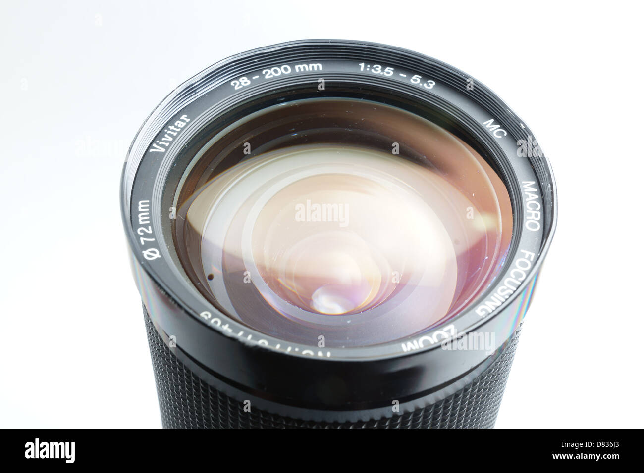 Camera lens for Canon FD, Vivitar brand 28-200mm zoom - Stock Image