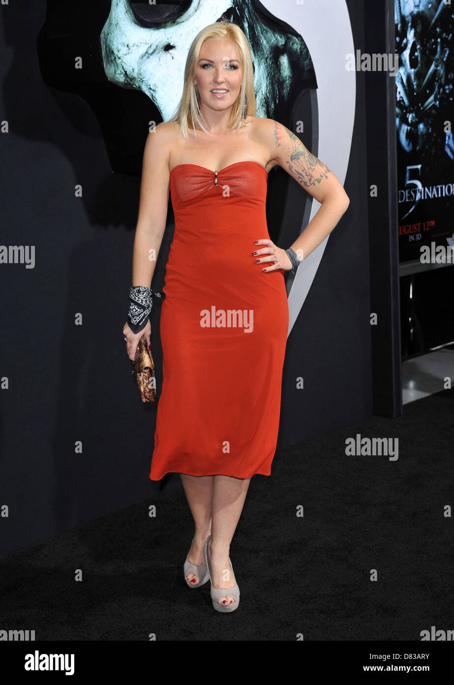 Cherish Lee The LA Premiere of 'Final Destination 5' held at Grauman's Chinese Theatre Hollywood, California - Stock Image