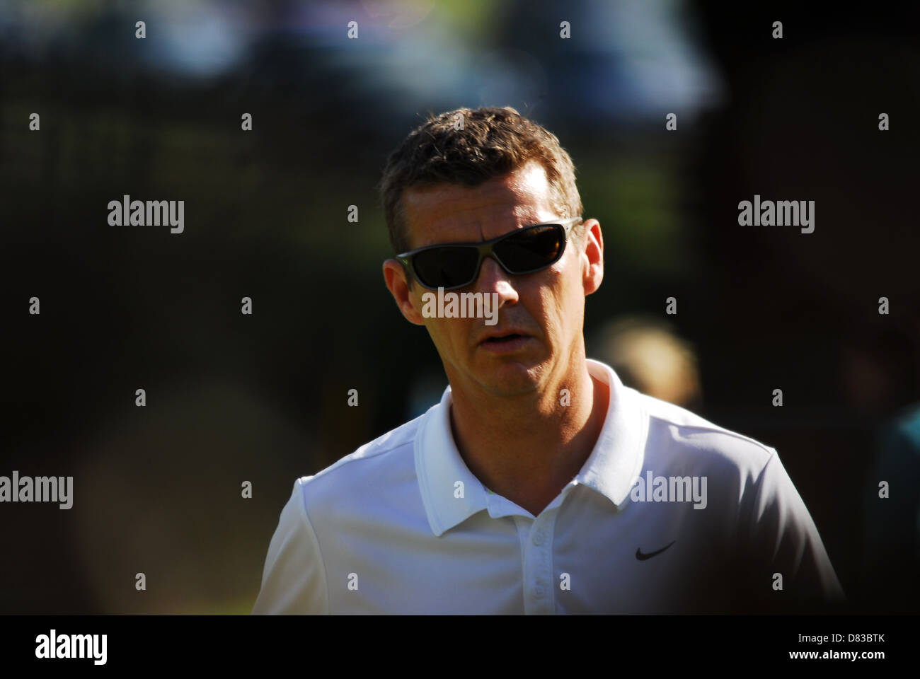 Steve Cram MBE playing the Cromwell Course The Homefoods British Par 3 Championships held in Nailcote Hall Warwickshire, - Stock Image
