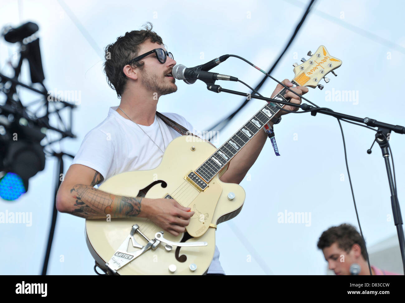 Portugal. The Man Lollapalooza Music Festival 2011 - Performances - Day 3 Chicago, Illinois - 07.08.11 - Stock Image
