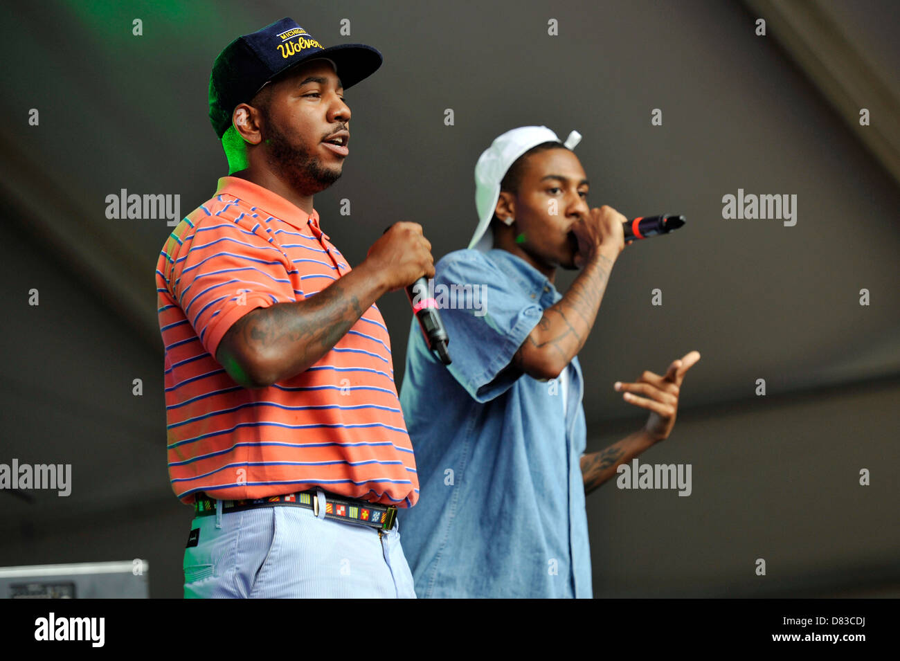The Cool Kids Lollapalooza Music Festival 2011 - Performances - Day 3 Chicago, Illinois - 07.08.11 - Stock Image