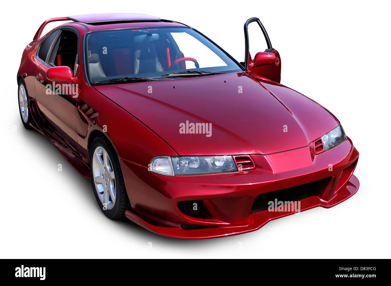 Custom Mitsubishi Eclipse Red Sports Car Isolated On White Background With  Clipping Path   Stock Image