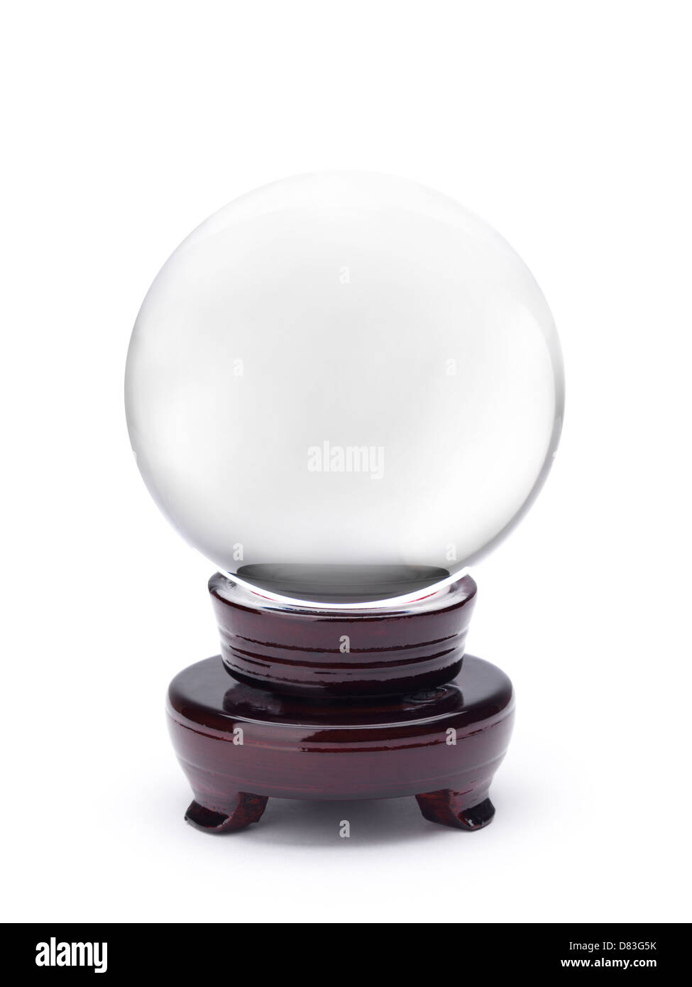 Scrying Crystal ball isolated on white background with clipping path - Stock Image
