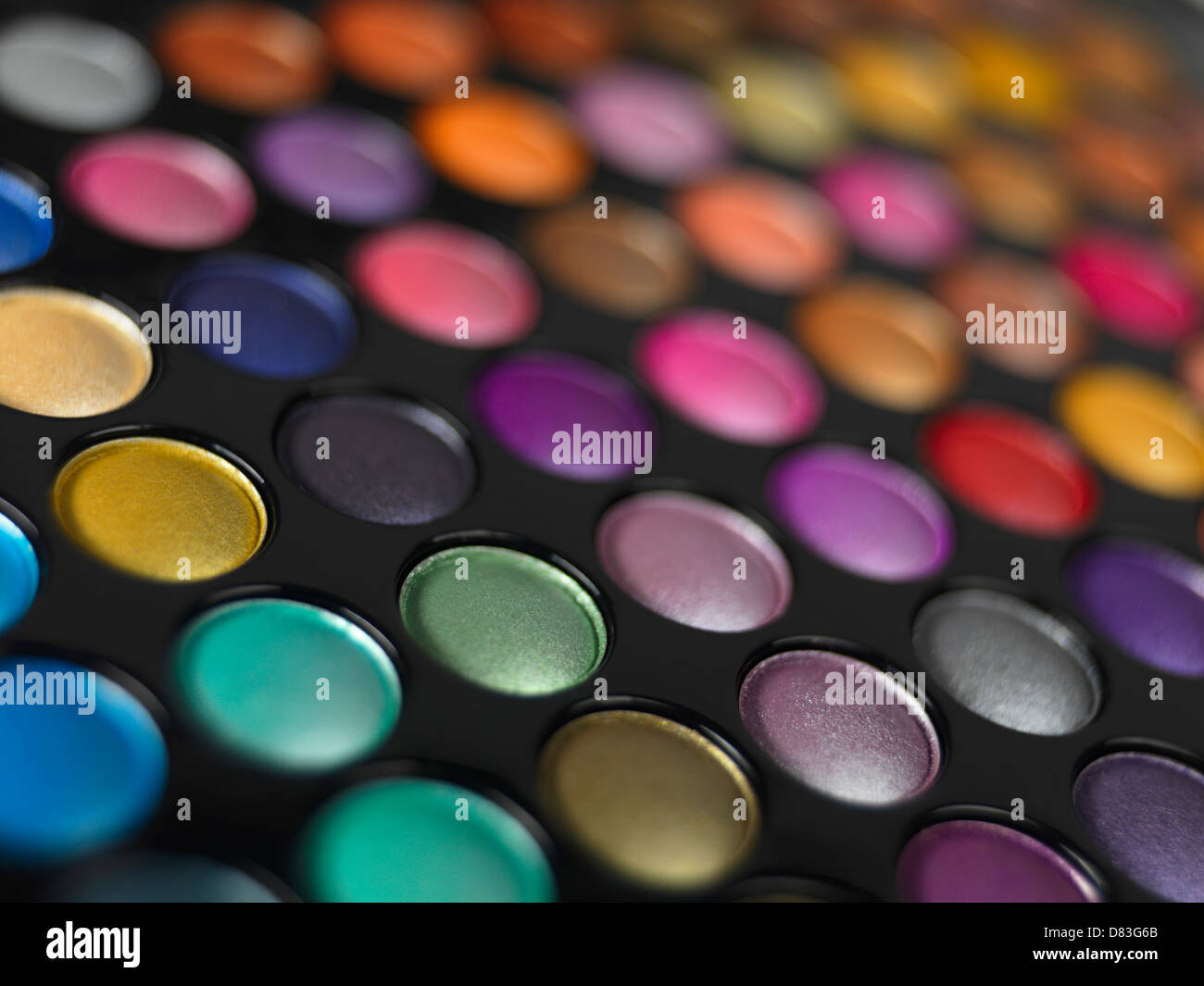 Colorful eye shadow palette - Stock Image