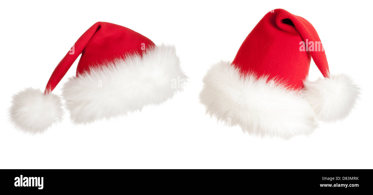 Christmas Santa hat Stock Photo