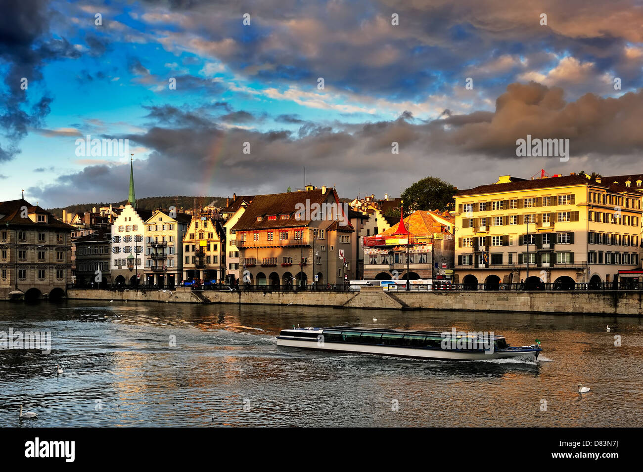 Limmat river and from Zurich - Stock Image