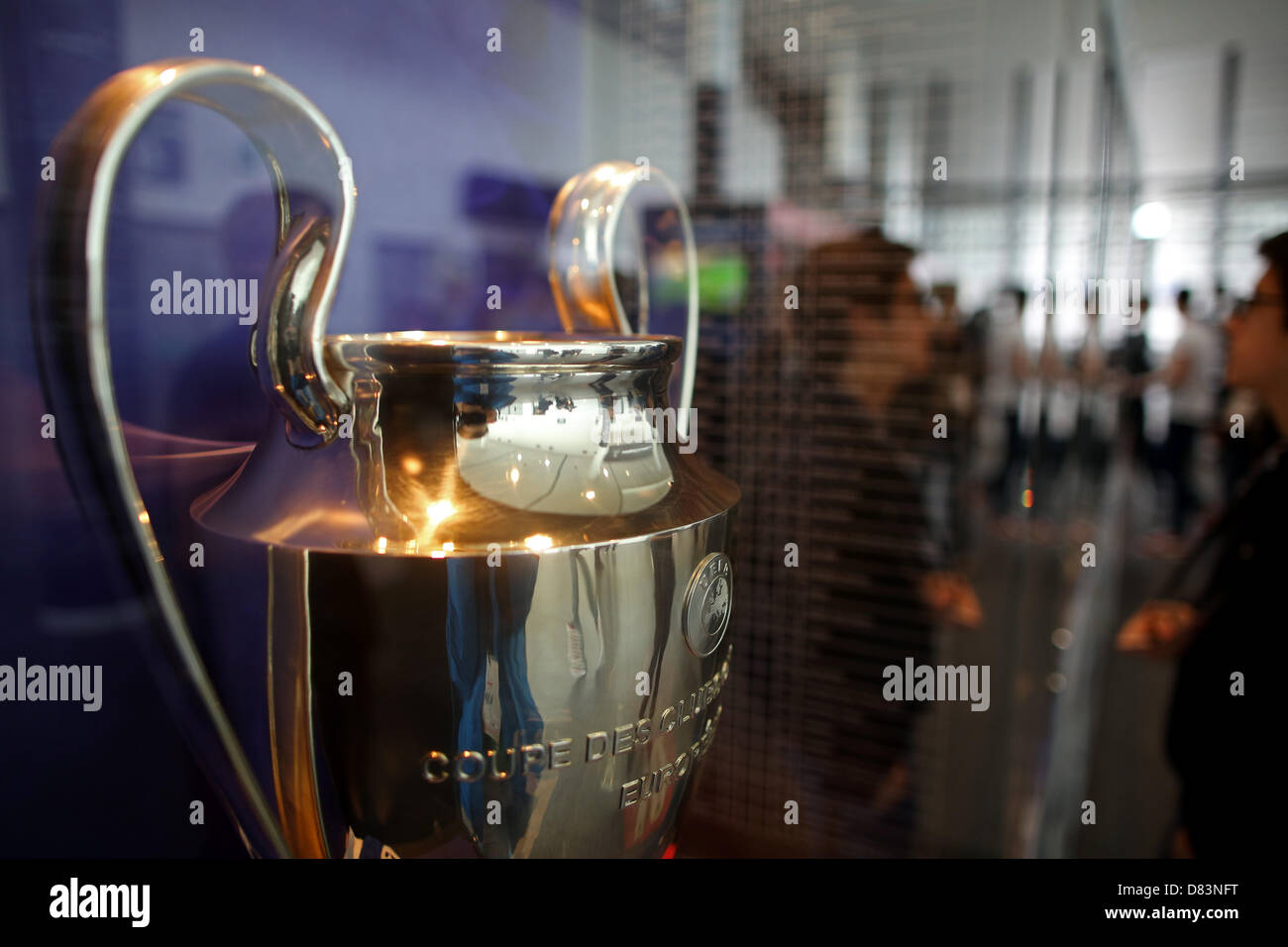 a replica of the uefa champions league trophy is featured at the stock photo alamy https www alamy com stock photo a replica of the uefa champions league trophy is featured at the wembley 56631116 html