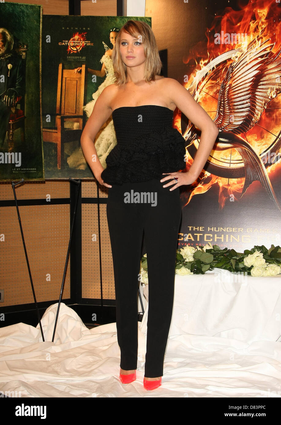 Jennifer Lawrence The Hunger Games Catching Fire Photocall Cannes Stock Photo Alamy