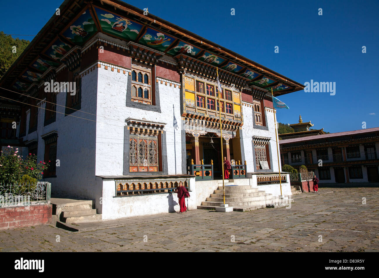 Tamshing Goempa (monastery) in Jakar. Bumthang District. Bhutan. - Stock Image