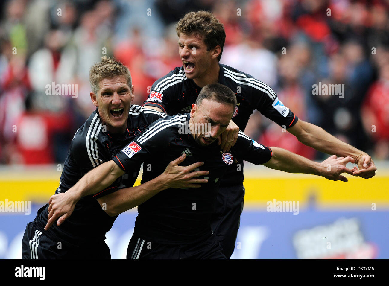 Fußball Bundesliga 34. Spieltag: Borussia Mönchengladbach - FC Bayern München am 18.05.2013 im Borussia-Park in Stock Photo
