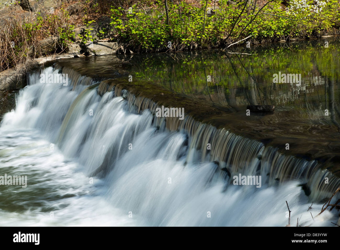 Time Lapse Waterfall and Stream (soft motion blur) - Stock Image