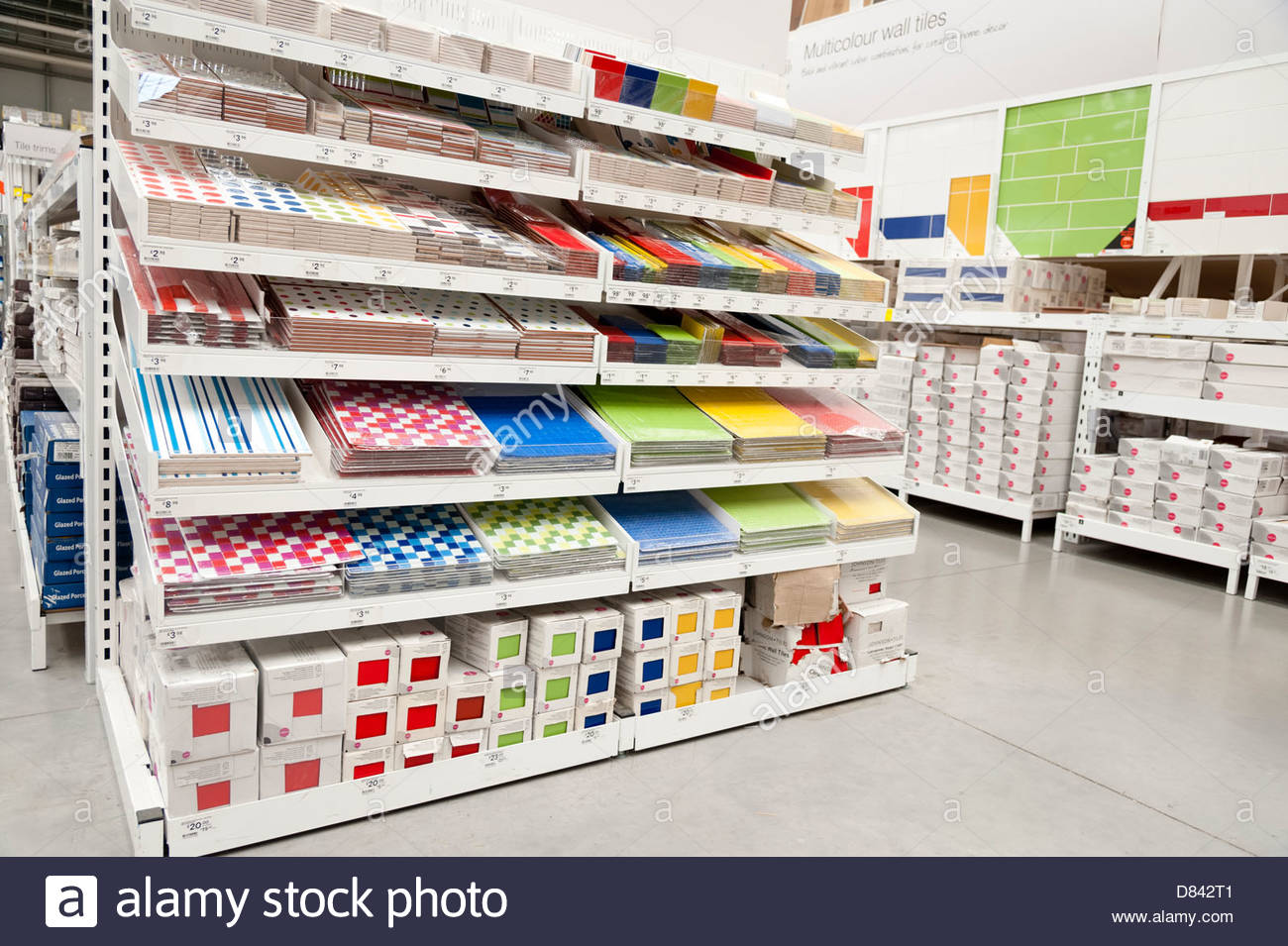 Wall Tiles For Sale In A B Q Store Bristol Uk Stock Photo