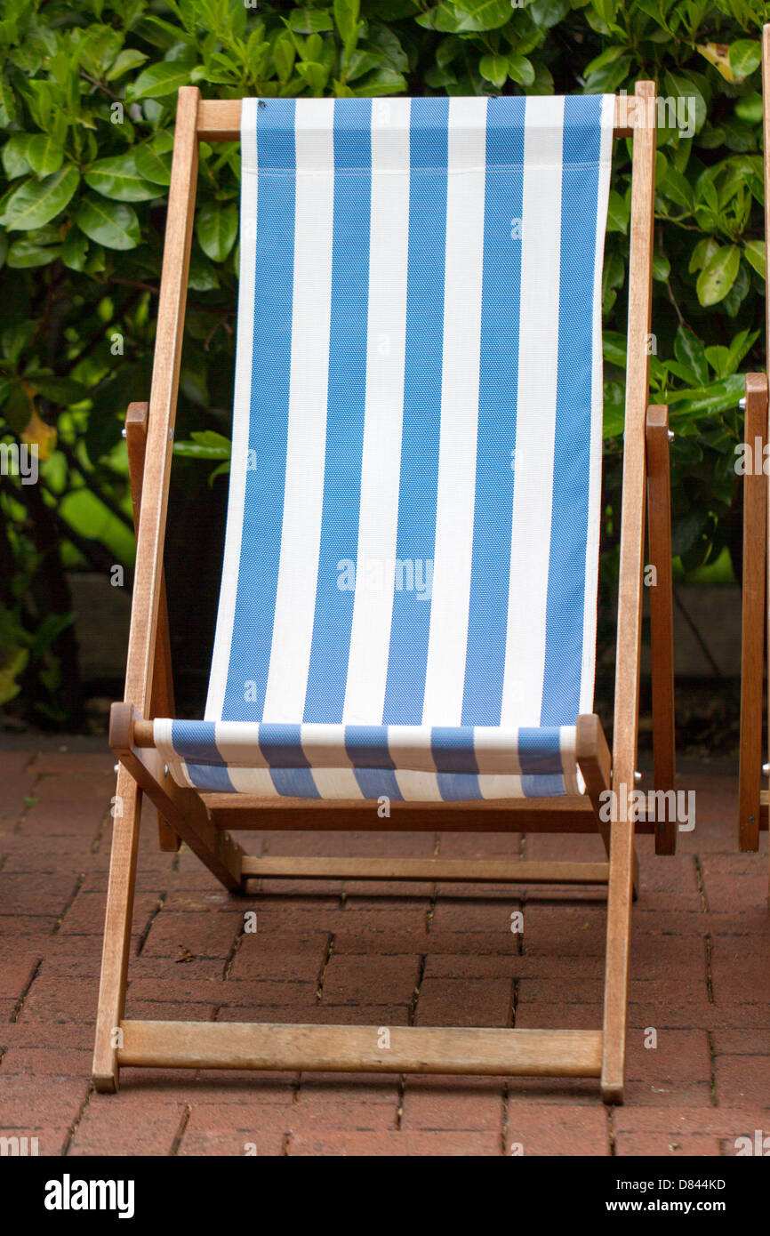 Deck Chair in London - Stock Image