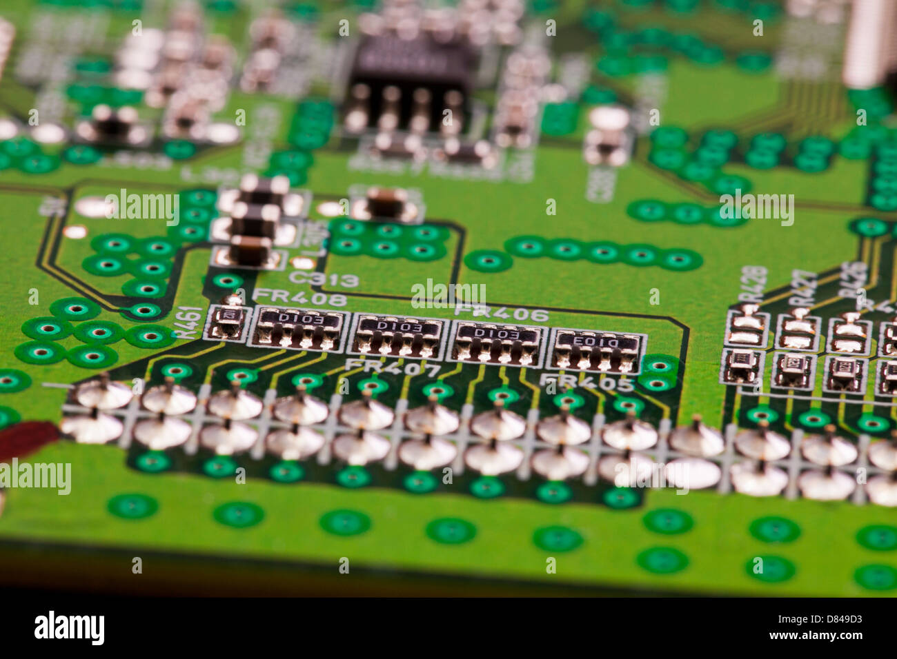 Closeup detail of circuit board - Stock Image
