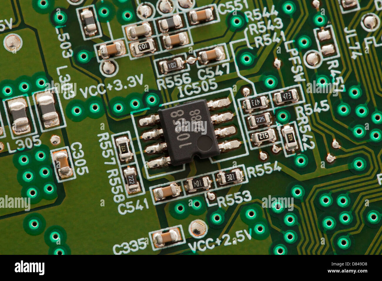 Ic Chip Stock Photos Images Alamy Icintegrated Circuit Component Electronic On Board Image