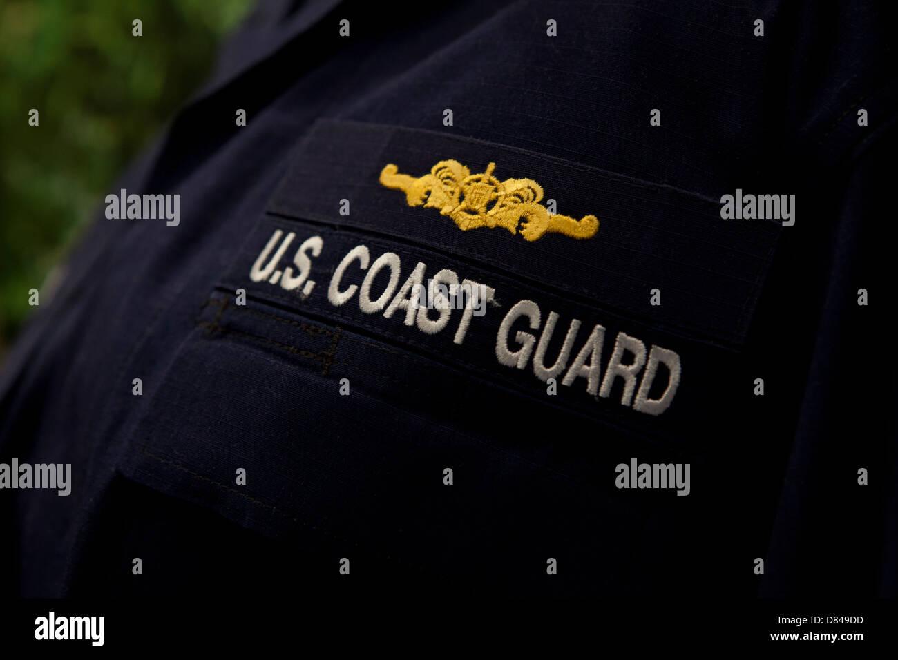 US Coast Guard combat uniform - Operation Dress Uniform - Stock Image