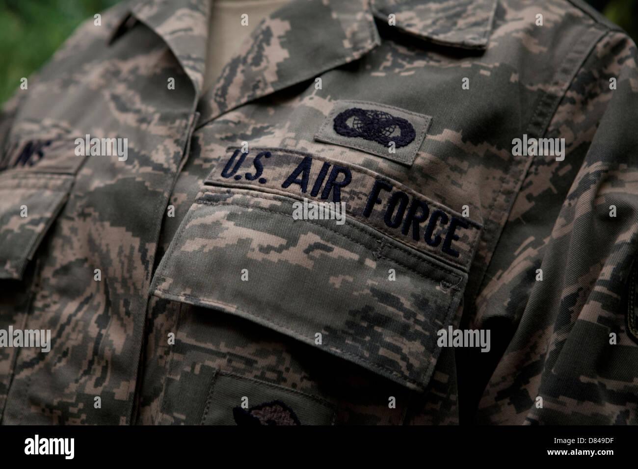 US Air Force airman battle uniform - Stock Image