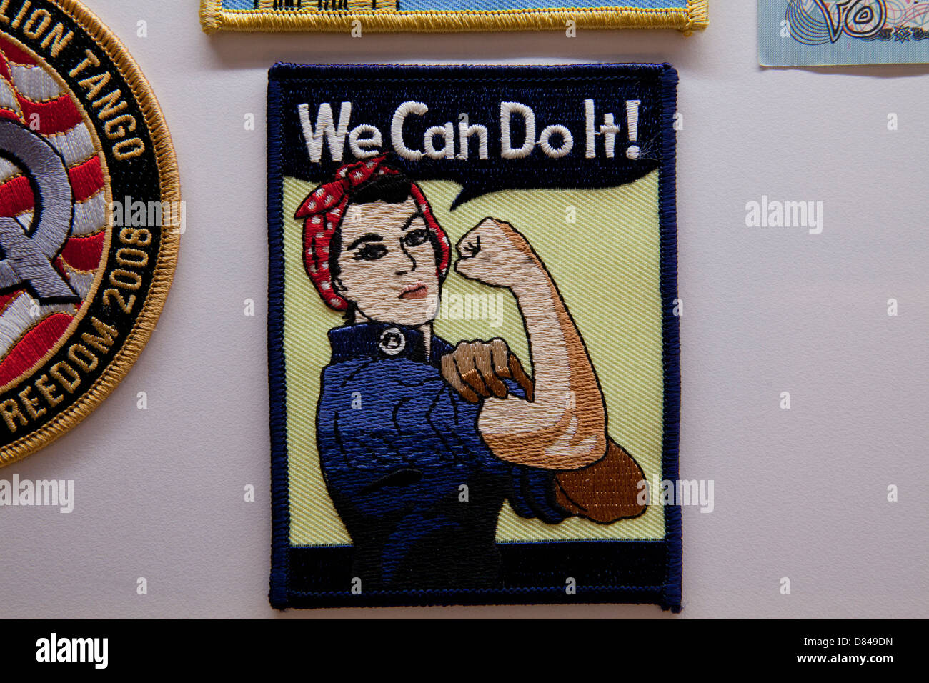 We Can Do It! patch - Stock Image