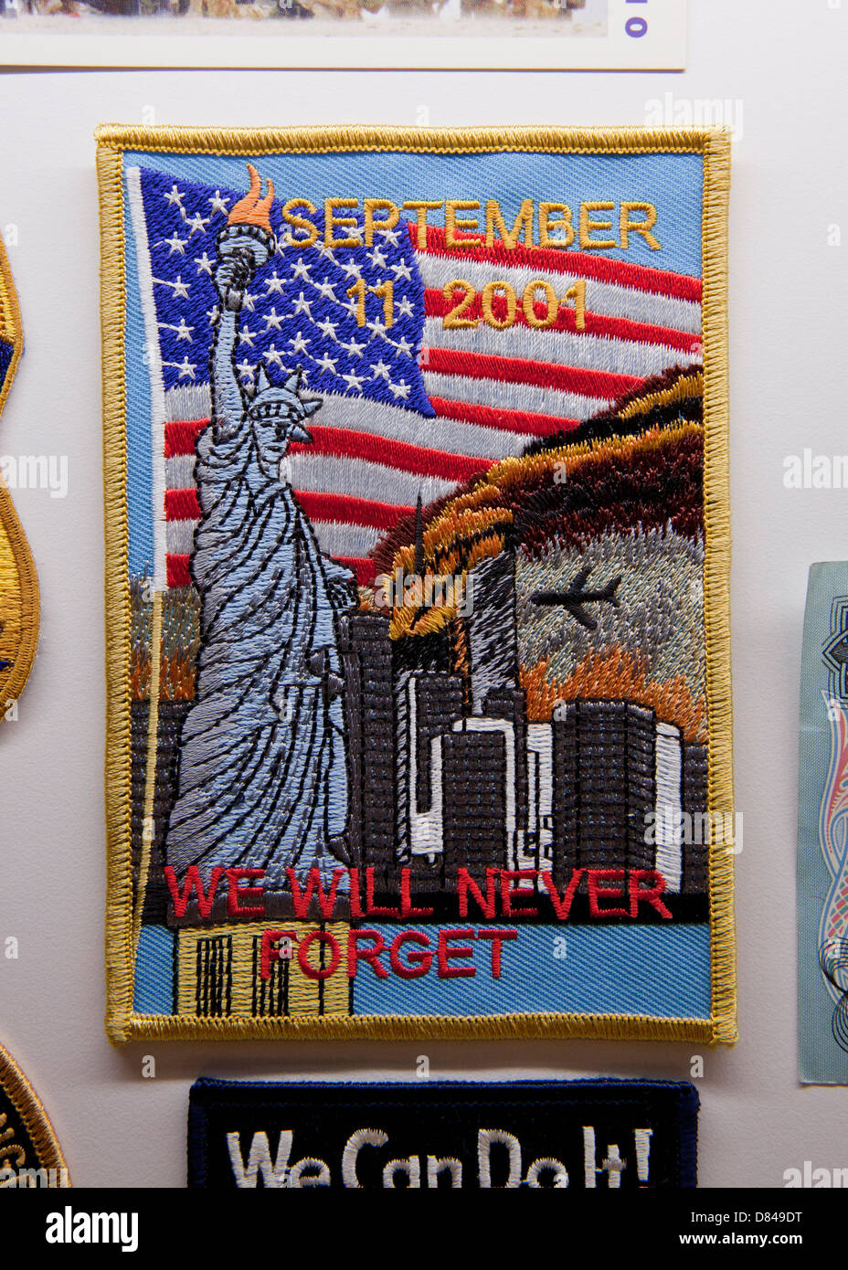 911 memorial patch - Stock Image