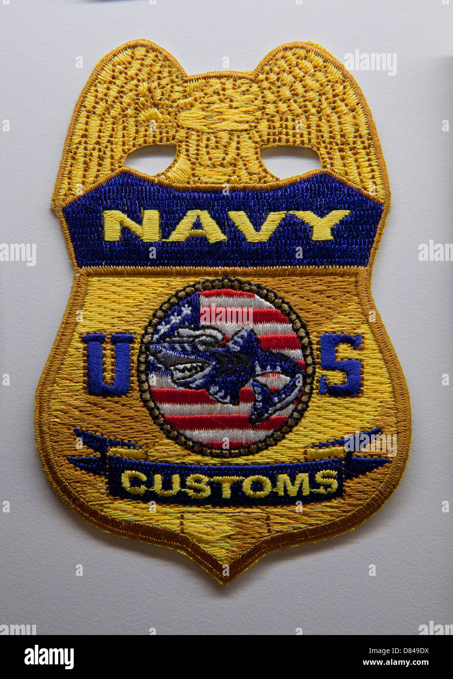 US Navy Customs patch - Stock Image