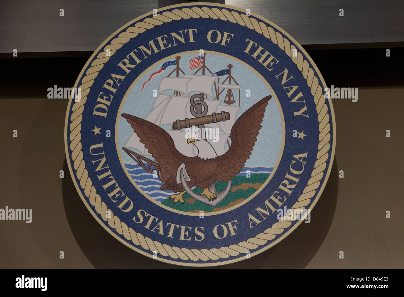Official seal of the US Navy - Stock Image