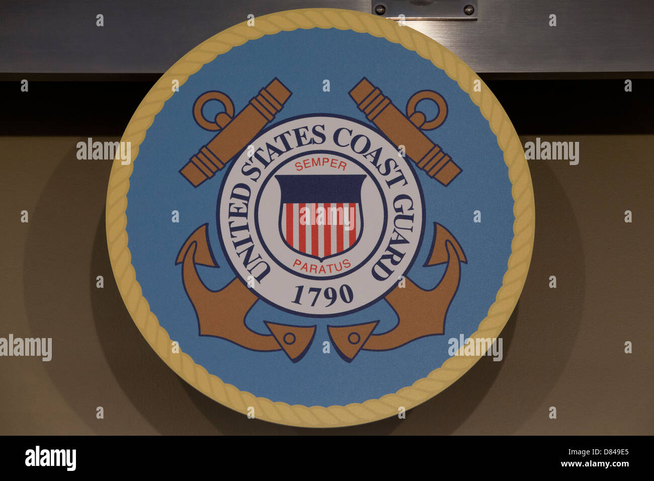 Official seal of the US Coast Guard - Stock Image