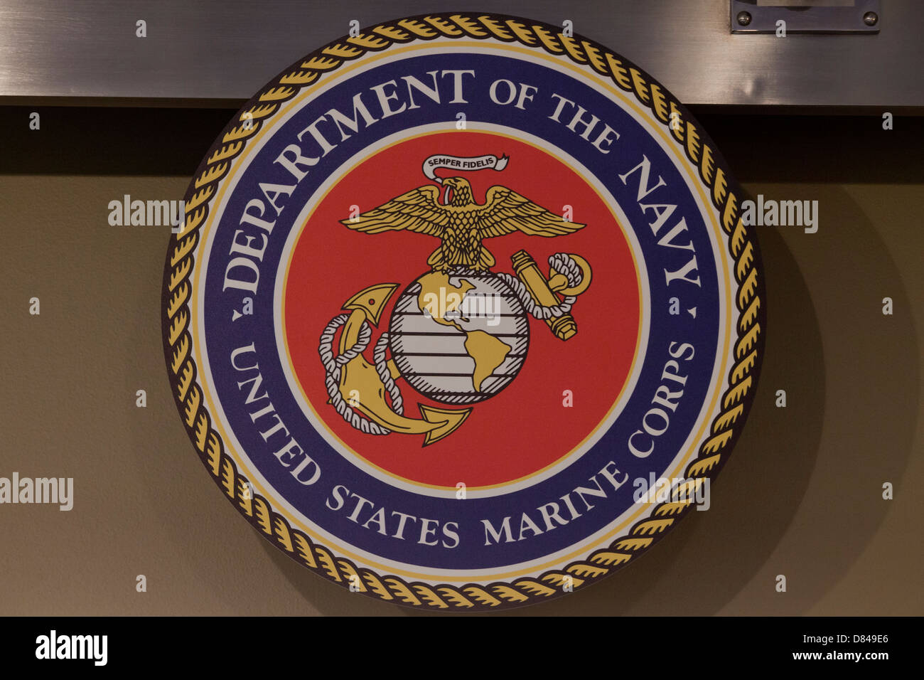 Official seal of the US Marine Corps - Stock Image