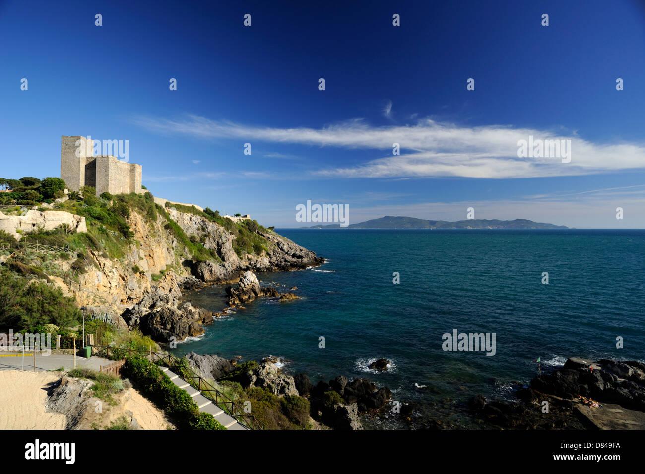 Talamone Italy Map.Italy Tuscany Tyrrhenian Sea Talamone Stock Photos Italy Tuscany