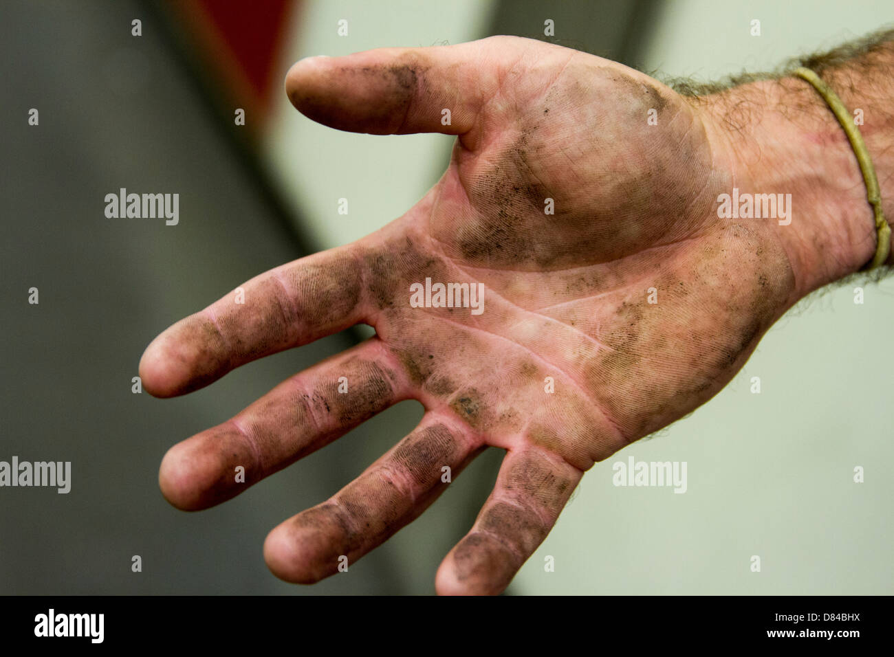 Dirty hand - Stock Image
