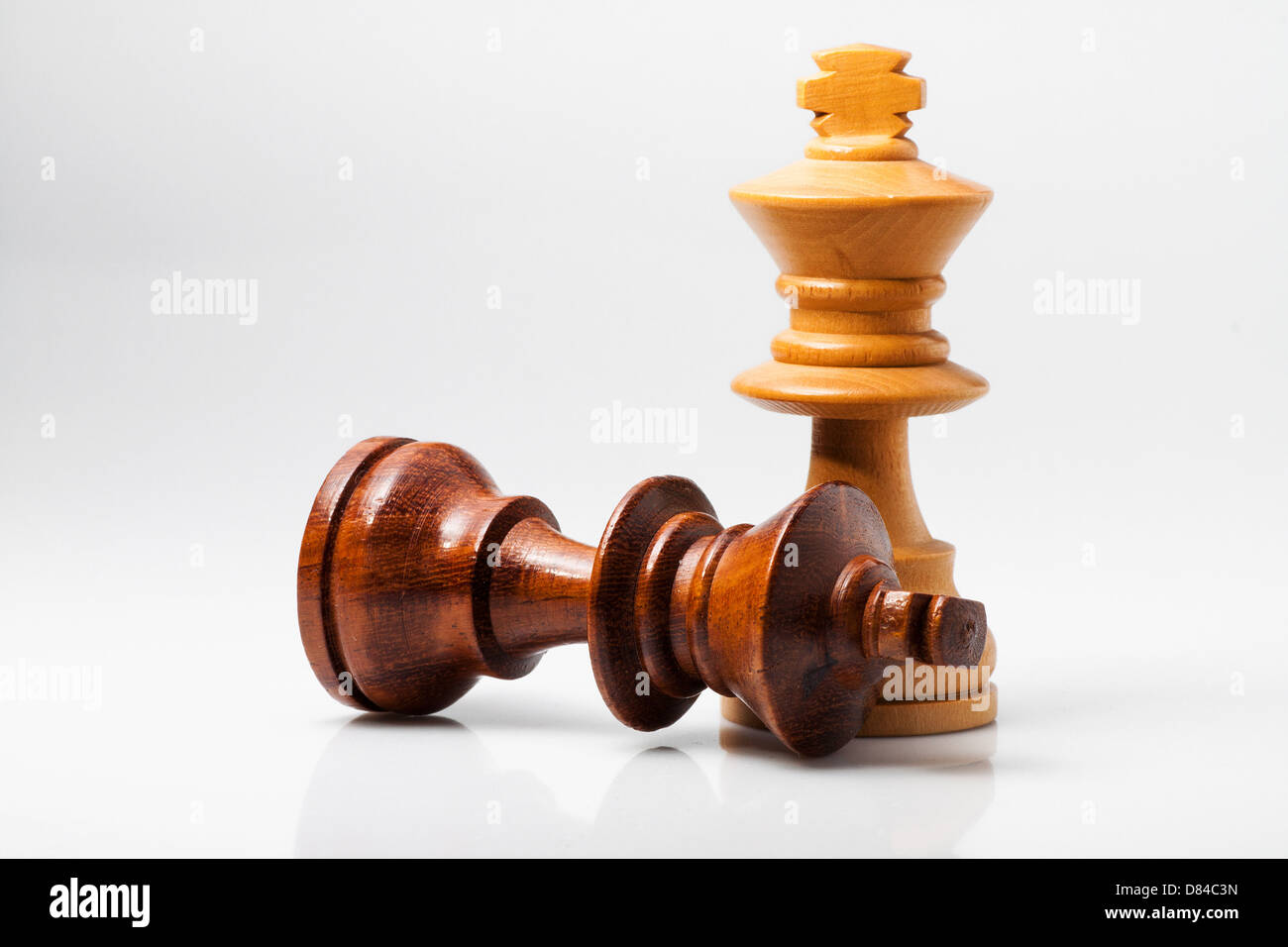 photo of two king of chess with white background - Stock Image