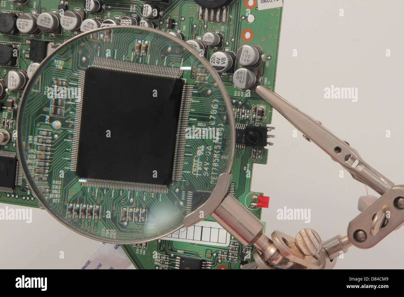 Electronic Board Stock Photos Images Alamy Circuit Assembly Buy Circuits Boardcircuit Components On A Base Image