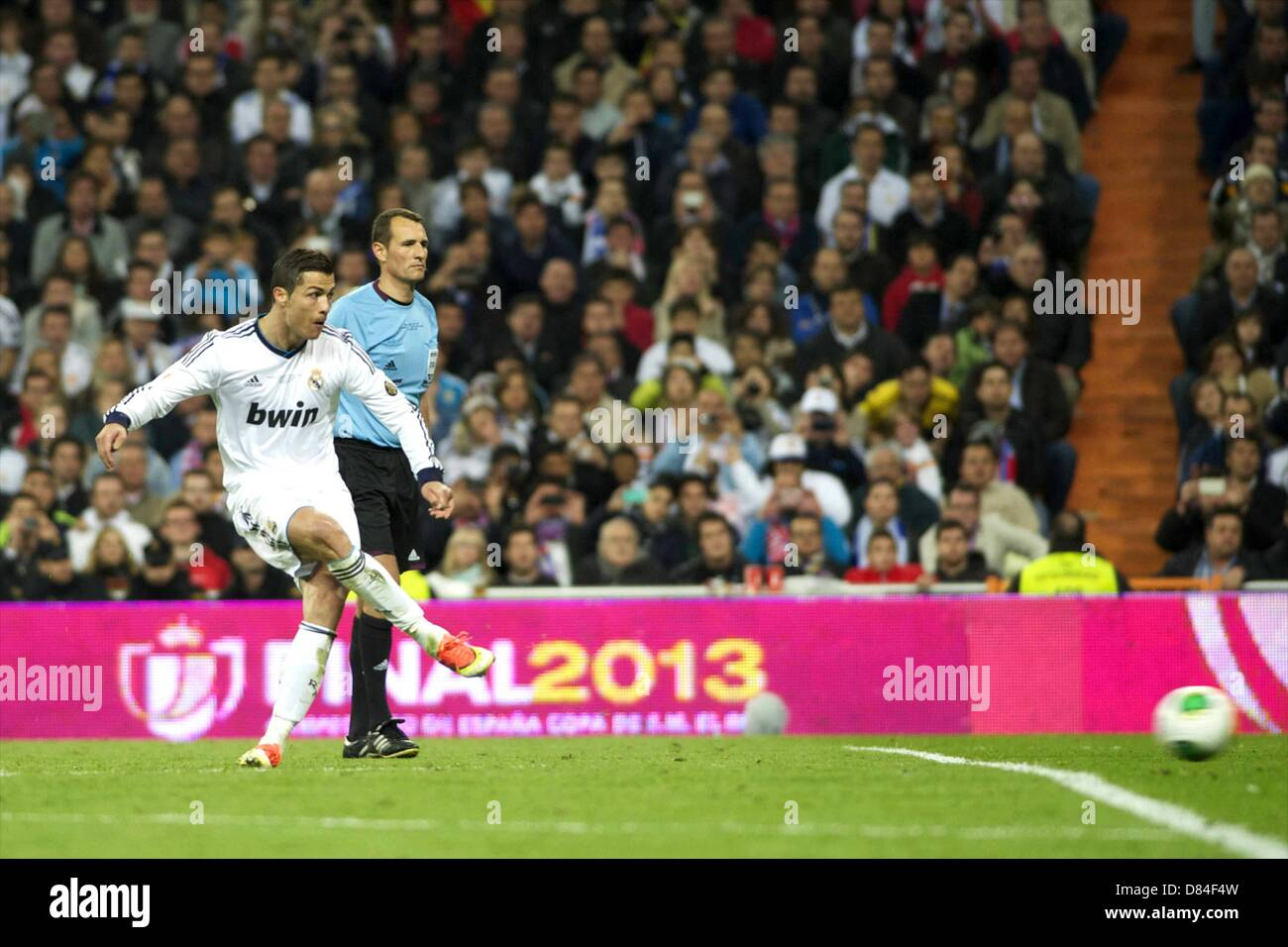 17.05.2013. Madrid, Spain. Copa del Rey final. Real Madrid versus Atletico Madrid. Final score was (1-2) Cristiano - Stock Image