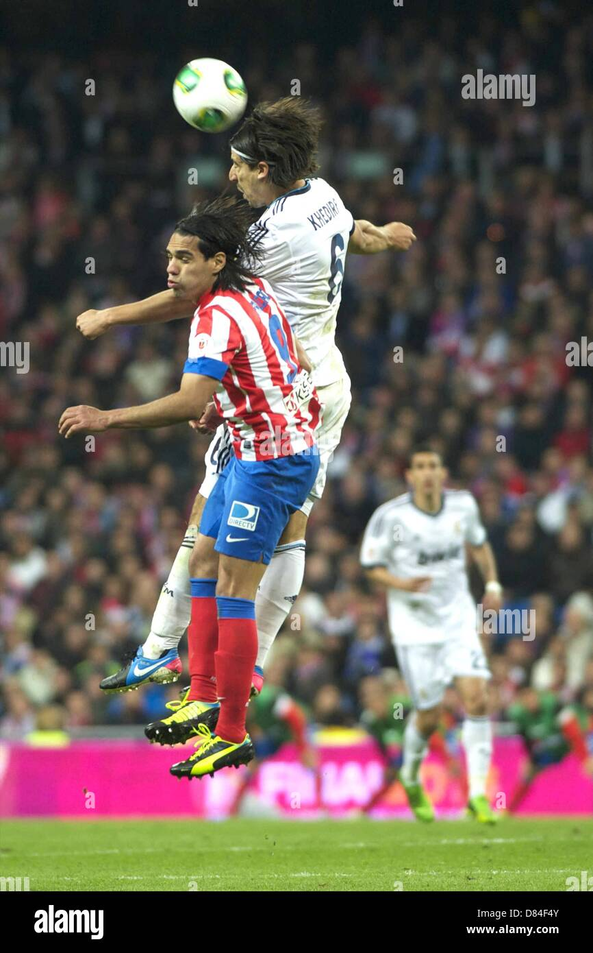 17.05.2013. Madrid, Spain. Copa del Rey final. Real Madrid versus Atletico Madrid. Final score was (1-2) Falcao - Stock Image