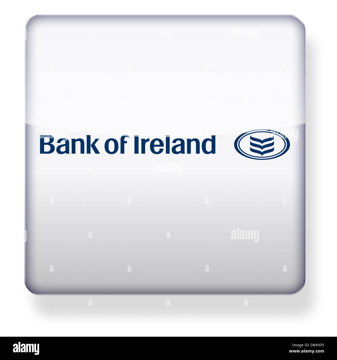 Bank of Ireland logo as an app icon. Clipping path included. - Stock Image