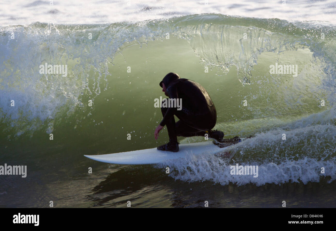 Surfer in the Curl - Stock Image