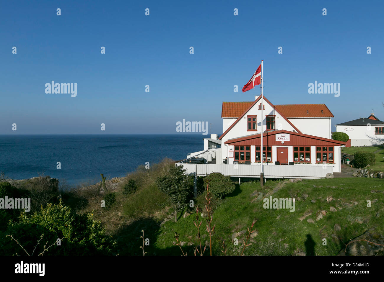 Cafe Klippen on the island of Bornholm in the Baltic Sea, Denmark Stock Photo