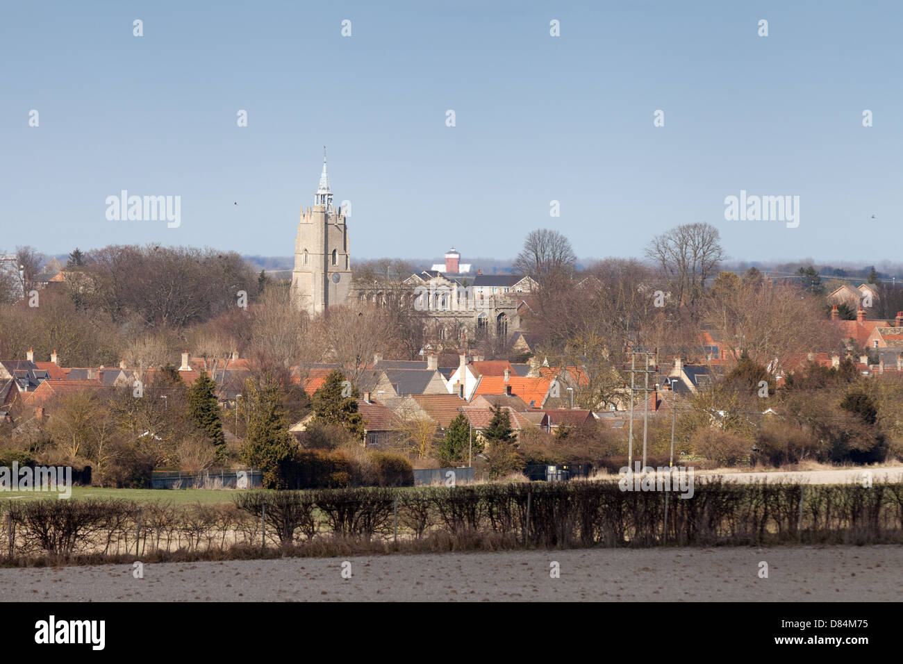 The East Cambridgeshire town of Burwell on a spring day, East Anglia, England, UK - Stock Image