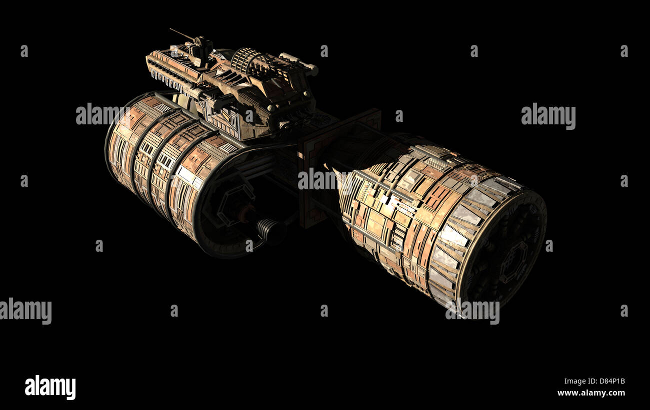 French/Bulgarian orbital weapons platform featured in 2001 : A Space Odyssey, front view. - Stock Image