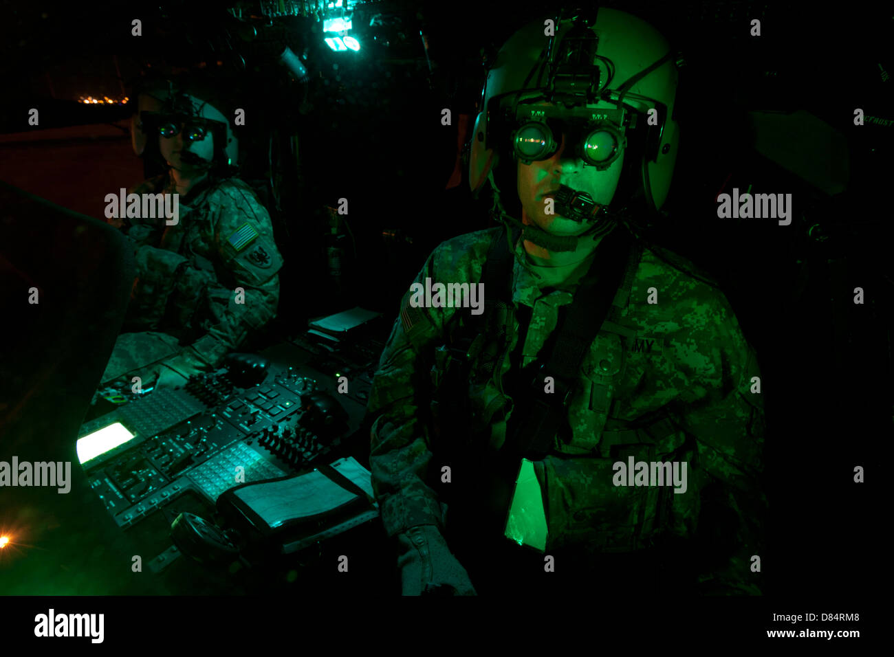 Photographic Print: Pilot Equipped with Night Vision