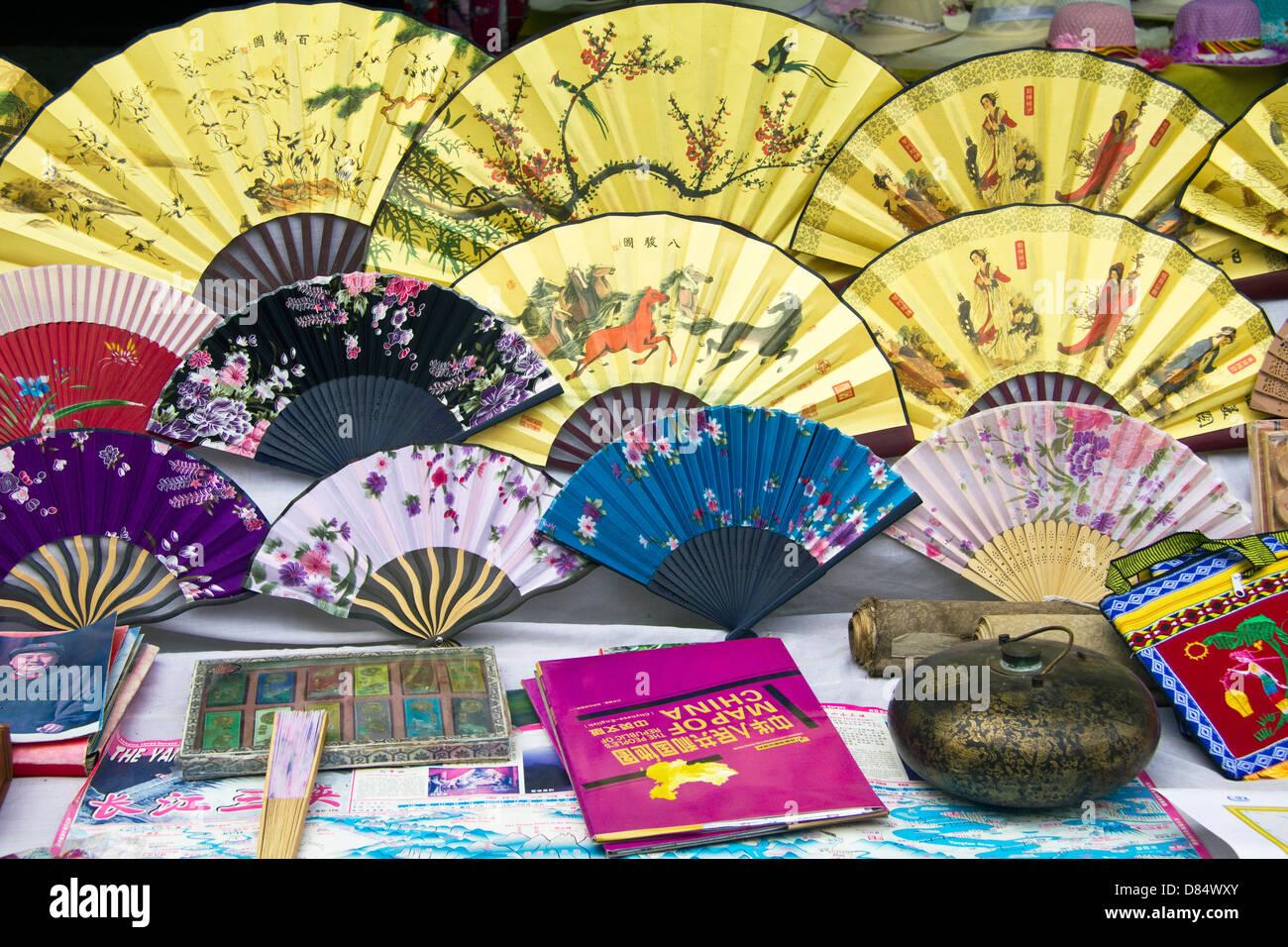 Souvenirs display, Three Gorges cruise, Yangtze River, China - Stock Image