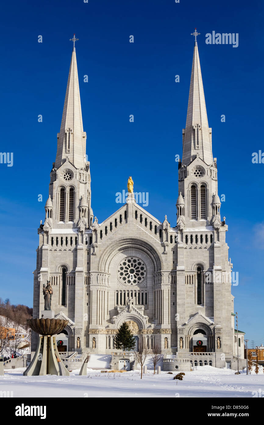 The Basilica of Saint Anne in Quebec City, Canada. - Stock Image